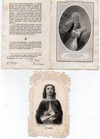 Lot De 2 Images Pieuses Dentelées - Datées Avant 1900 - 2ième Choix ( SAINT JEAN ) - - Religion & Esotérisme