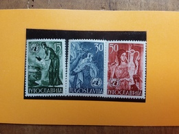 JUGOSLAVIA 1953 - Nn. 627/29 Nuovi ** + Spese Postali - 1945-1992 République Fédérative Populaire De Yougoslavie