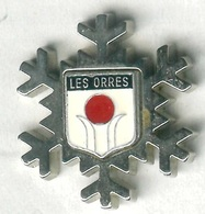 Pin's Ville Blason Armoiries Les Orres Ski Neige Alpes - Città