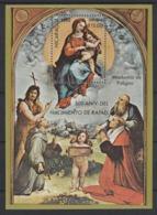 """1983 Nicaragua Raffaello """"Madonna Di Foligno"""" Quadri Paintings Peintures Block MNH** Bic39 - Madonne"""
