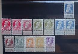 BELGIE  1905     Nr. 74 - 80    Spoor Van Scharnier *  / Enkele Kleurnuances  Zie Foto    CW 765,00 - 1905 Breiter Bart