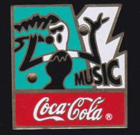 61682-Pin's Lumineux.Coca-cola.Music. . - Coca-Cola