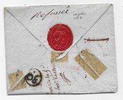 Lettre De Sedan Pour PARIS Marque D'arrivée AOUST Barrée Et SEPTEMBRE - 1801-1848: Precursori XIX