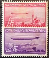 LIECHTENSTEIN 1936 - MLH - Sc# C15, C16 - 1Fr 2Fr - Unused Stamps