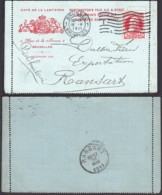 """Belgique - CP Illustrée """"Café De La Lanterne"""" COB 74 De Bruxelles 18/V/1911 Vers Ransart (RD359)DC5872 - 1905 Thick Beard"""
