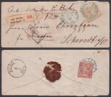 Allemagne Du Nord - Yv.4+6 En Recom. De Berlin 07/02/1868 Vers Schwert (RD364)DC5877 - Norddeutscher Postbezirk