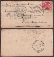 Belgique - Lettre COB74 De Bruxelles 05/VIII/1911 Vers Constantine Algérie (RD367)DC5880 - 1905 Thick Beard