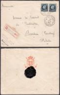 Belgique - Lettre COB215x2 En Recom Des Postes Militaires 3 Le 22/III/1926 Vers Président Du Liechtenstein (RD372)DC5885 - 1921-1925 Piccolo Montenez