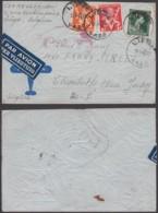 Belgique - Lettre COB646+680+682 Par Avion Cie Italienne-Griffe O.A.T De Liège 13/07/1945 Vers Elisabeth (RD378)DC5891 - Briefe U. Dokumente
