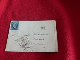V.P 3, Lettre De Nevers à Décize , OR , 1856 - Marcofilia (sobres)