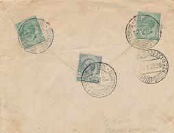 1923 NICASTRO (RIONE SAN TEODORO) FRAZIONARIO 18-226 NON COMUNE TASSATO IN ARRIVO - 1900-44 Victor Emmanuel III