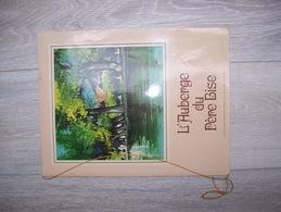 Vieux Menu L'AUBERGE DU Père Bise , Lac D'Annecy , TALLOIRES ( Illustration PIERRE Levé )   RARE - Menus