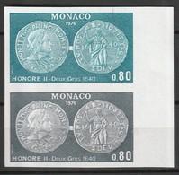 MONACO - ESSAI De COULEUR - N°1069 ** (1976) Monnaies - Andere