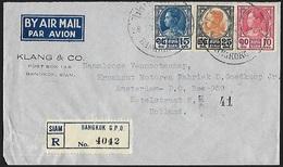 1928 - SIAM - Cover [Air Mail] + Scott 210/212 - SG 255/257 [Rama VII] + BANGKOK - Siam