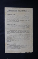 MILITARIA - Tract Anglais Distribué En France En 1940 Avec Horaires Des émissions En Français De La BBC -  L 51855 - Documenti