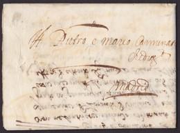 1657. AMBERES A MADRID. CARTA COMPLETA. SISTEMA CIERRE SELLO PLACADO. TEXTO ITALIANO. MUY BONITA S. XVII. - 1598-1621 (Unabh. Niederlande)
