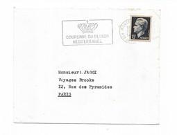 Monaco  1955 Flamme Couronne Du Blason Méditerranée Hotel De Paris Monte Carlo - Machine Stamps (ATM)