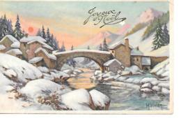 JOYEUX NOEL PAYSAGE DE NEIGE M VIVIER - Noël