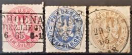 PREUSSEN / PRUSSIA 1861 - Canceled - Mi 16, 17, 18 - 1sg 2sg 3sg - Preussen