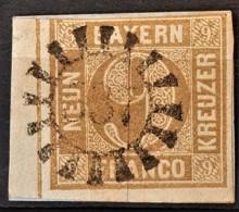 BAYERN / BAVARIA 1862 - Canceled - Mi 11 - 9kr - Bayern