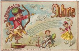 Chromo Image Nouveautes  A La Ville De Saint Denis 94-95 Faubourg St Denis 75 Paris  Le Sagittaire - Autres