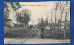 VILLIERS-sur-MORIN   Route De Crécy  Passage A Niveau     Animées   écrite En 1909 - Autres Communes