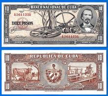 Cuba 10 Pesos 1956 Cespedes Kuba Que Prix + Port Peso Paypal Bitcoin OK - Cuba
