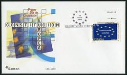 ESPAÑA / SPAIN / ESPAGNE (2005) - Constitución Europea / European Constitution - First Day Cover - 1931-Hoy: 2ª República - ... Juan Carlos I