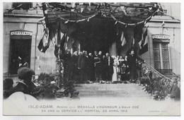 CPA 95 L ISLE ADAM REMISE MEDAILLE D HONNEUR SOEUR ZOE HOPITAL 25 AVRIL 1912 ** INFIRMIERE RELIGIEUSE ** - L'Isle Adam