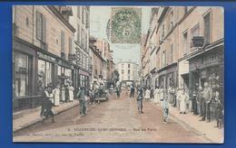VILLENEUVE-SAINT-GEORGES   Rue De Paris   Animées   écrite En 1907 - Villeneuve Saint Georges