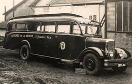 RPCP : Autocars De La Brière, D'Aragnan, Photo Of Old Postcard, 2 Scans - Cars