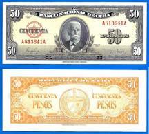Cuba 50 Pesos 1950 Que Prix + Port Iniguez Caraibe Caribe Kuba Pesos Paypal Bitcoin OK - Cuba