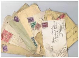 ARMEE BELGE LOT LETTRES CORRESPONDANCE MILITAIRE  Pour SARS LA BUISSIERE HAINAUT 1920 1921 - 1914-18