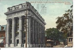 1913 - Bank Of Toronto, Corner Guy & St. CAtherine Streets, Montreal, Quebec, Valentine (18.345) - Montreal