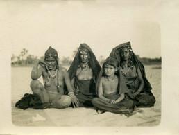 RPCP,NU Ethnic NUDE, Jeune Femme Nue Sexe Visible Femmes Et Fllette, Maghreb, Photo Of Old Postcard, 2 Scans - Erotiques (…-1960)