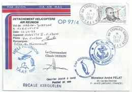 YT 216 - René Garcia - Posté à Bord Du MD - Héli-Réunion - Port Aux Français - Kerguelen - 24/07/1997 - Terre Australi E Antartiche Francesi (TAAF)