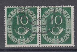 Bund 128 Waagerechtes Paar Posthorn 10 Pf Gestempelt /11 - BRD