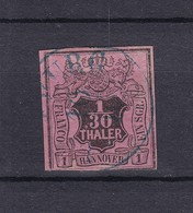 Hannover - 1855 - Michel Nr. 3 B - Gest. - 65 Euro - Hanovre