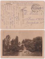 DES67001 Germany  Deutsche Feldpost 1918 WWI Romania Postcard Bukarest Im Park Cismigiu - Deutschland