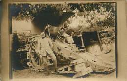 030220 - CARTE PHOTO MILITARIA GUERRE 1914 18 - Canon Jeanne - Oorlog 1914-18
