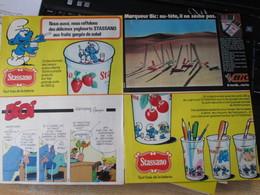 SPI2020  Issu De Revue SPirou Années 70/80 / 2 PAGE DE PUBLICITE AUTOCOLLANTS SCHTROUMPFS STASSANO - Stickers