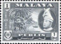 USED STAMPS MALAYSIA ,Perlis - Tuan Sajid Putra Ibn Al - Marhum Sajid H -1957 - Perlis