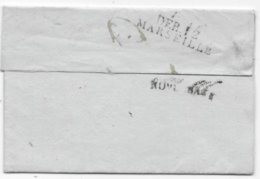 Lettre  78/Brignolles 1815 Marque D'arrivée NOVEMBRE + DEB 12 / MARSEILLE - Postmark Collection (Covers)
