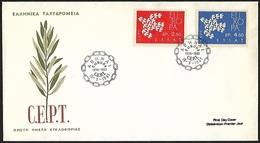 1981 - HELLAS - FDC - Michel 775/776 - Y&T 753/754 [Europa] + ATHENA - FDC