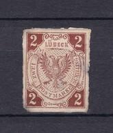 Lübeck - 1859 - Michel Nr. 3 - Fälschung - Ungebr. - Luebeck