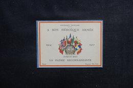 MILITARIA - Carte Patriotique De Remerciements De La Nation Pour L 'Armée En 1914/17 -  L 51883 - Documentos