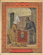 Protège Cahier Fin XIXe: Illustration G. Dascher, Les Prénoms: Odette De Champdivers Et Charles VI, Collection Geisler - Protège-cahiers