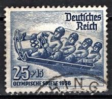 ( 320) Deutsches Reich--Mi.-Nr. 602 Gestempelt / Schöne Qualität, Höchstwert Winterolympiade 1936 - Winter 1936: Garmisch-Partenkirchen