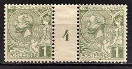 MONACO 1885 / 14  - PAIRE / Y.T. N° 11 - AVEC MILLESIME 4 / NEUFS** - Monaco