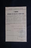 VIEUX PAPIERS - Demande De Billets De Chemin De Fer à Demi Tarif Pour Un Voyage En 1910 -  L 51885 - Vecchi Documenti